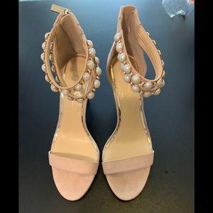 Jessica Simpson blush detailed pearl heel size 8